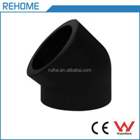 ISO4427 socket 45 degree elbow hdpe pipe fittings for water supply