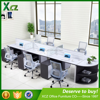 2016 Modern design office low partition for 6 person