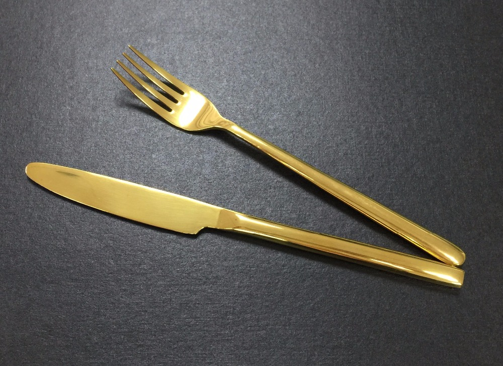 Cheap China Wholesale international silver company gold plated flatware