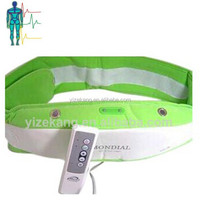 Vibrating electronic whole body fat reducing belly massage belt