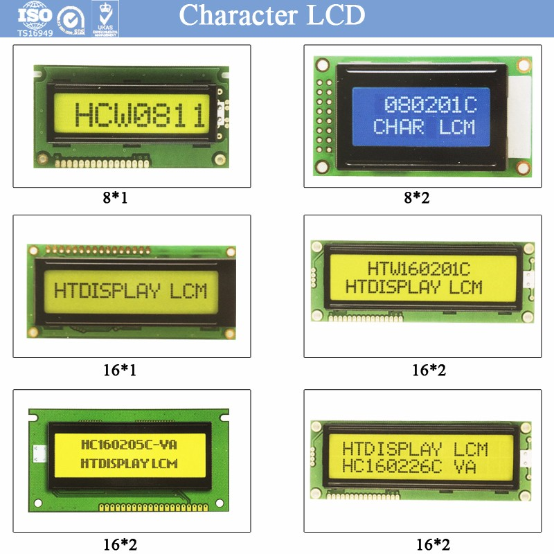 16*4 Characters Y/G Positive Translective STN LCD