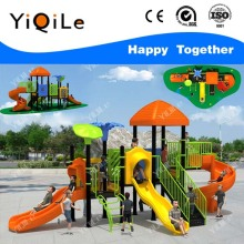 Lovely house outdoor dog play equipment fashionable playground floor popular kindergarten playground slides hot selling