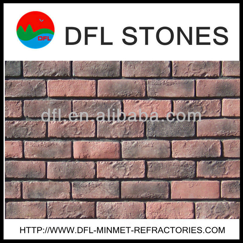 Hand made red clay stone bricks