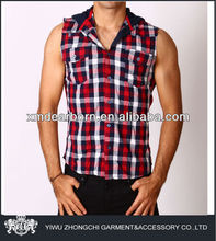 sleeveless button down shirts for men