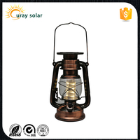 Old appearance solar led lantern,rechargeable lights for home decor ,garden ,camping,emergency