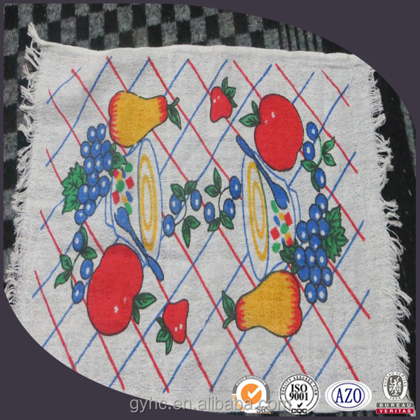 100% cotton custom printed tea towels with ties