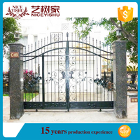 wrought iron galvanized or powder coated gate grill design, main house wrought iron grill gate designs