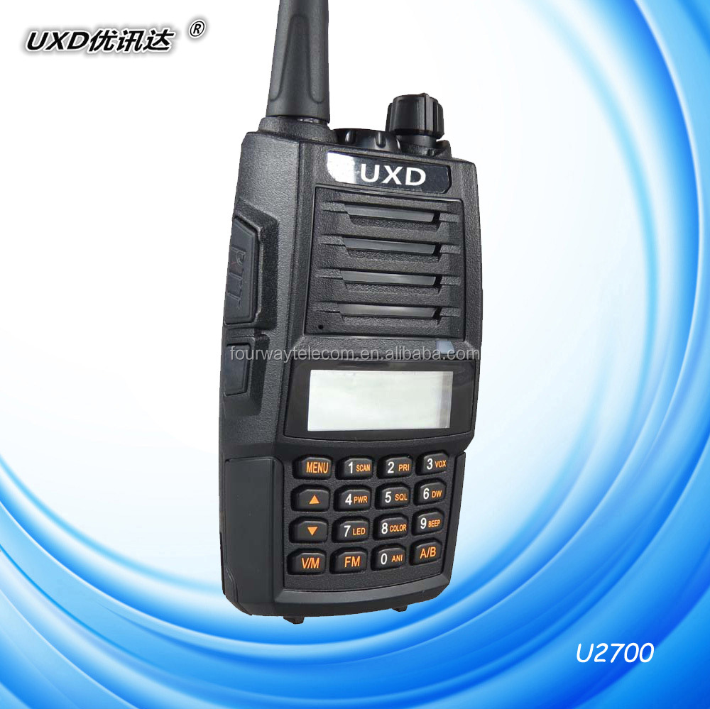Dual band walkie talkie 3colors backlight professional FM transceiver-U2700