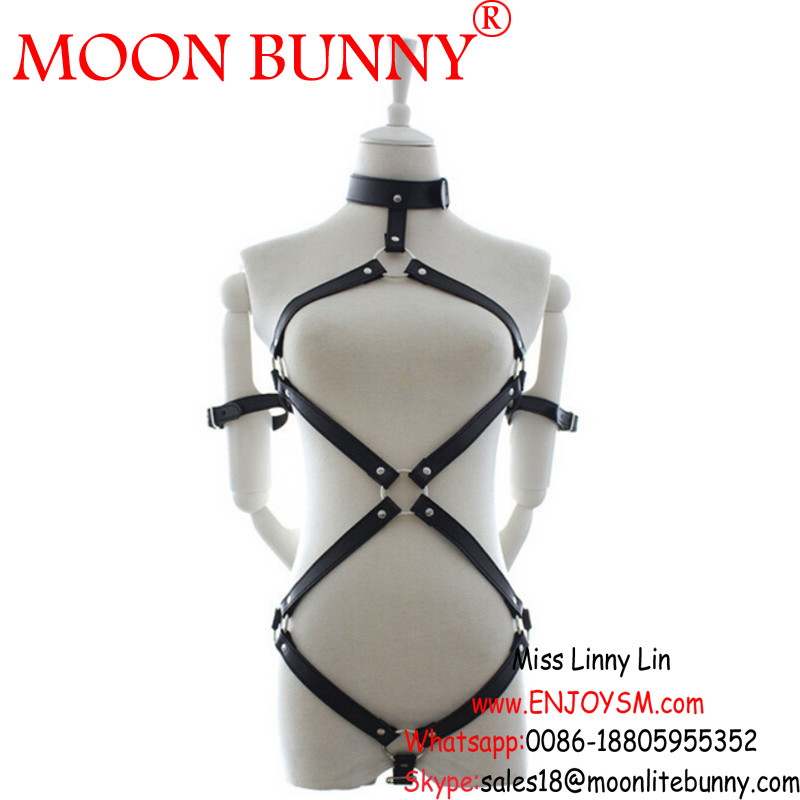 1 pcs/lot Black Bra Women Body Cage Harness Fashion Sexy Lingerie, Pu Leather Bondage Lingerie Sexy Costumes Sex Toys Body Suits