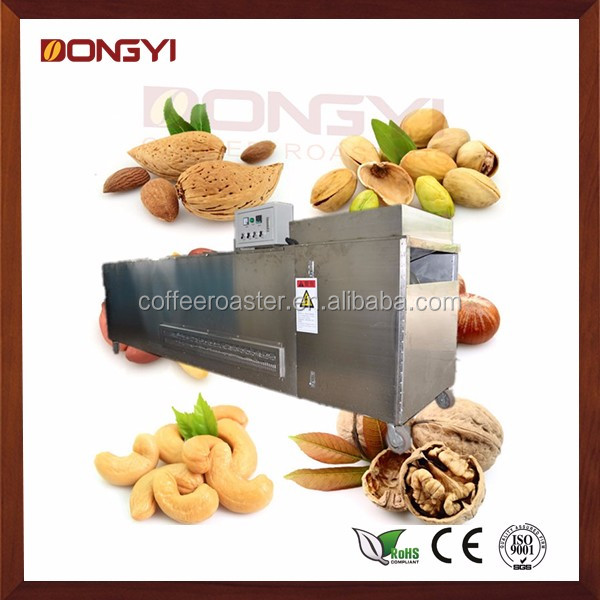 continuous nut roasting machine for almond nuts, cashew nut, palm kernel