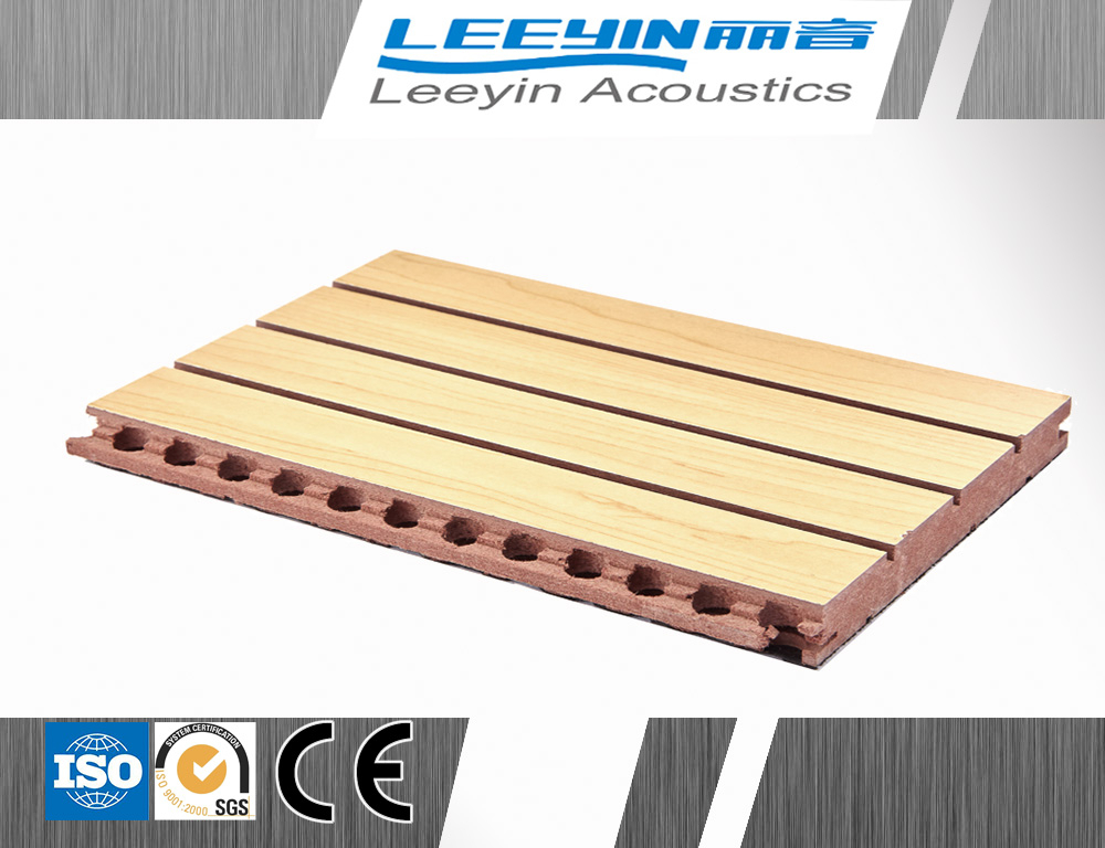 grooved acoustic panel MDF fireproof melamine wood panels for wall covering auditorium and gymnasium wall panel decorative board