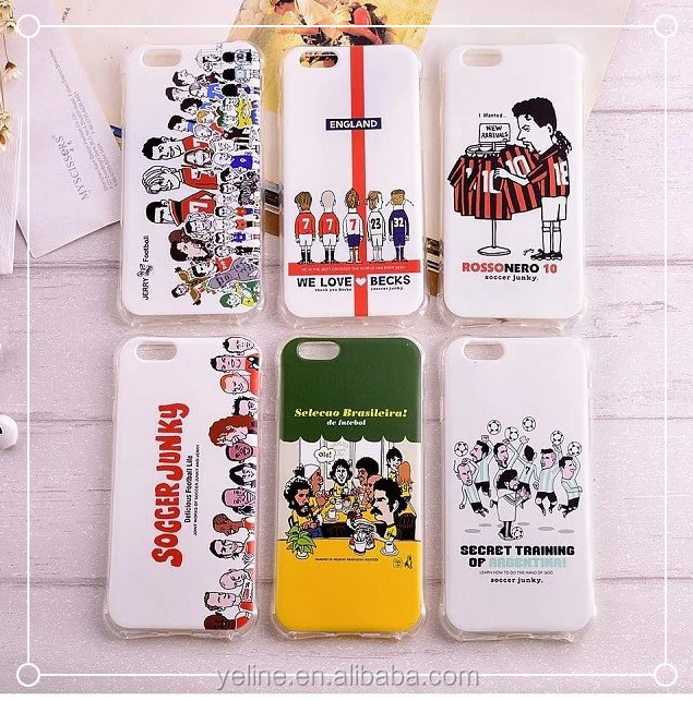 Boy's funny cartoon soccer team design phone case