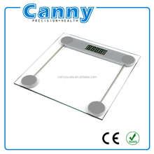 electronic digital bathroom household scale with transparent glass for body weight
