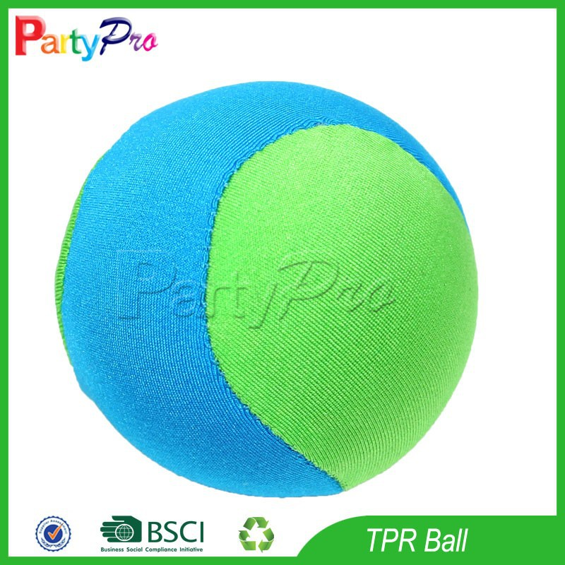 Partypro 2015 Wholesale New Design 6cm diameter TPR Lycra Soft Fabric Ball