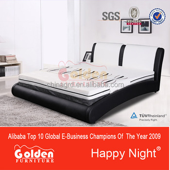 Alibaba Happy Night Golden supplier double bed G1136