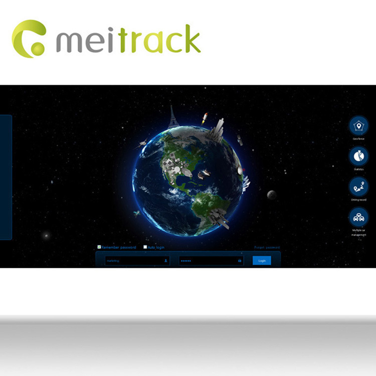 Meitrack sun tracking solar system with Accout Control Management