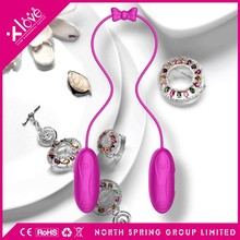 Dual Shaking mini vibrator increase sexual stamina with connect wire