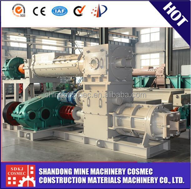 Low power consumption! Vacuum extruder for brick making machine for clay
