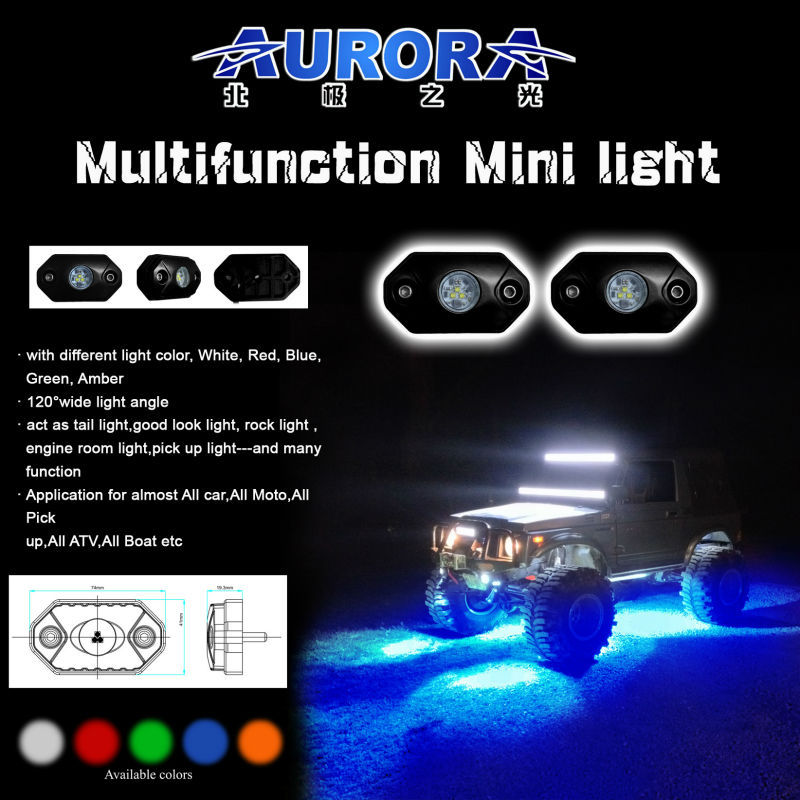 IP69K waterproof RGB rock light App control RGB MINI Light car RGB rock light