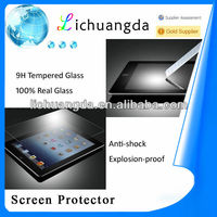 Factory price! Clear gold tempered glass screen protector for ipad mini