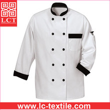 custom design 65% Polyester for durability and 35% Cotton for comfort chef wear with top quality finishing(LCTU0020)