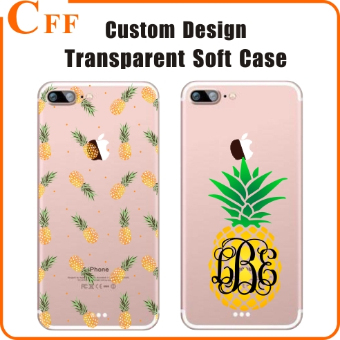 Customize Friute Pineapple Transprent TPU Phone Case for Samsung ON5 G5500 Back Cover for Samsung Galaxy ON7 G6000 Bag Shell