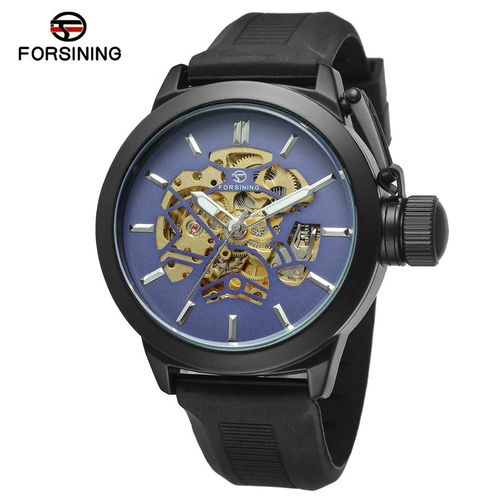 2017 new arrived ! Skeleton Men Automatic Luxury Silicone Big Face Watches
