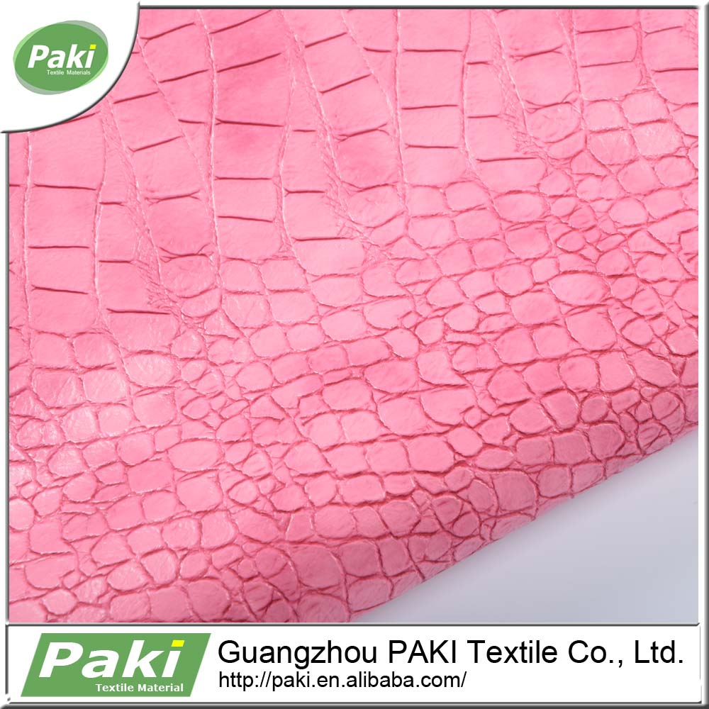 Guangzhou textile pu syntheti crocodile leather for bags