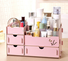 DIY Wood comestic Desk Organizer / jewelry storage / foldable desk organizer