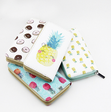 Hot Selling Fruits Printed Cute Woman Faux Leather <strong>Wallet</strong>