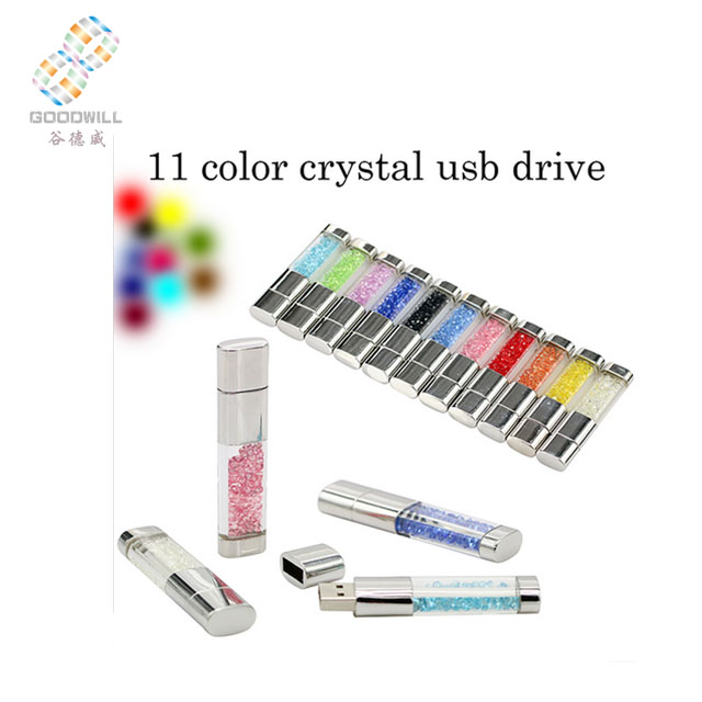 Crystal design style modern office fancy funny pen drive
