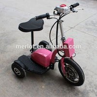 New design three wheeler standing up electric 4 wheel scooter with big front tire