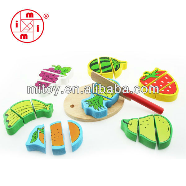 Child Educational Puzzle Toys Cut vegetables Fruits puzzles Wooden Toy