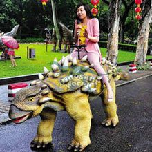 Outdoor Amusement Park Dinosaur Rides for 2014 Kids Game