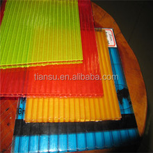 4mm/6mm/8mm/10mm/12mm colored twin-walls Hollow Polycarbonate sheet