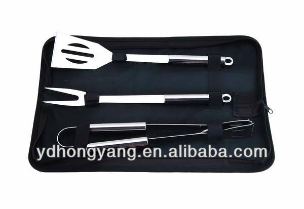 3- Pieces stainless steel mini bbq tools