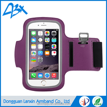 Sports wholesale armband case for iphone 6 plus purple color for iPhone 6s plus