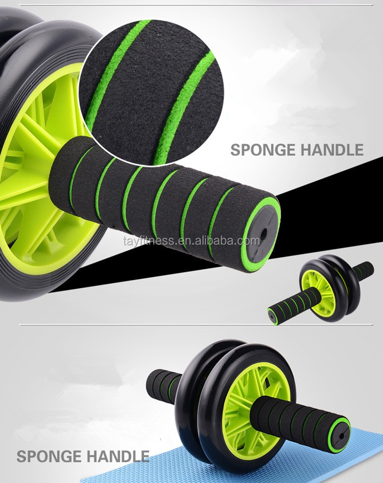 Fitness Exerciser Ab Wheel Roller With Knee Mat