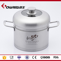 Charms straight stainless steel induction steamer pot