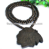 hip hop wholesale new design custom good wooden beads jewelry