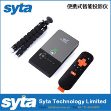 SYTA C2 Mini Projector DLP 1G/16G Android 4.4 RK3128 5G Wifi 30-120 inch 5000mAh Battery Portable Home Theater Projector