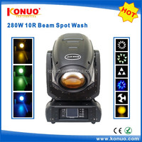 Guangzhou Konuo 10r 280w moving head lights 3in1 used for big stage / event