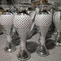 Wholesale Large Crystal Mosaic Vase Mirrored Glitter Sparkle Polystone planter wedding