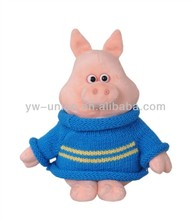 Blue Sweater Pig Toy