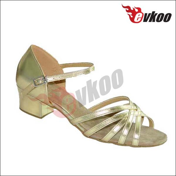 Gold and silver low heel women betty comfortable tango tap dance shoes