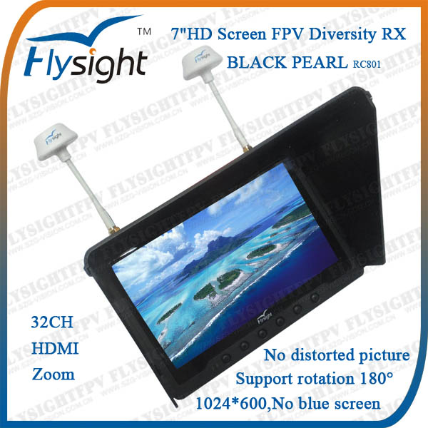 D872 Flysight 7 inch Wireless FPV Monitor with 5.8GHz Receiver for FPV System RC Airplane