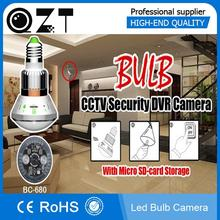 CCTV Camera Bulb IR LED Security DVR Video Recorder Motion Detection Bulb housing camera