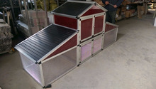 the latest high quality aluminium checkin cage&chicken coop