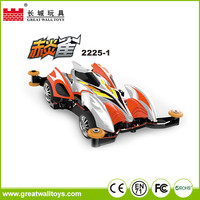 Hot sale plastic racing cars orbital toy for children