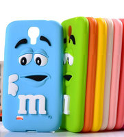 For Samsung Galaxy S4 I9500 3D cute Cartoon M&M Chocolate jelly Bean Silicone Case,50pcs/lot